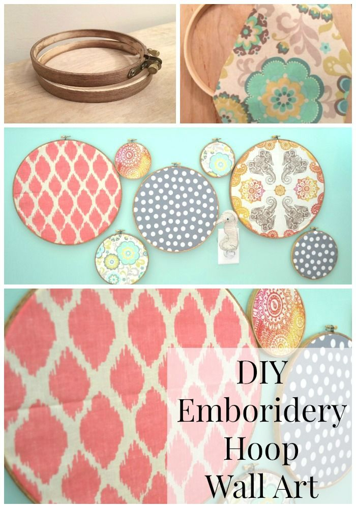 Home Decorating DIY Projects: DIY Embroidery Hoop Wall Art ...