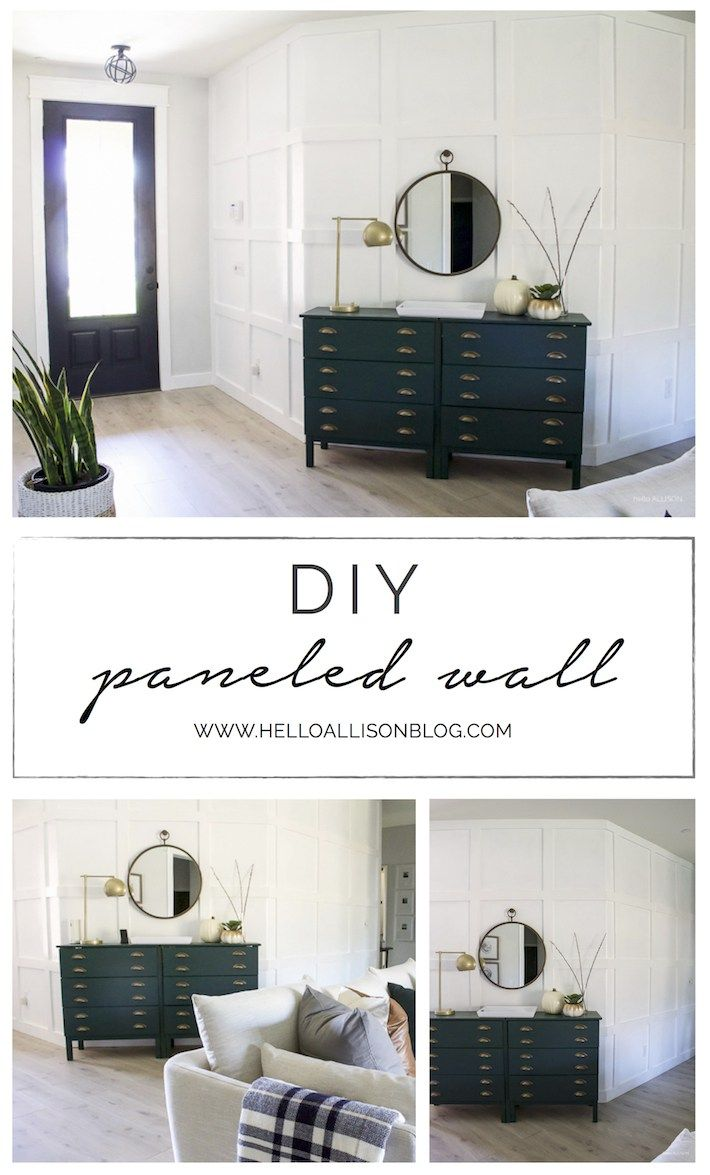 Home Decorating Diy Projects Diy Paneled Wall For Less Than 80