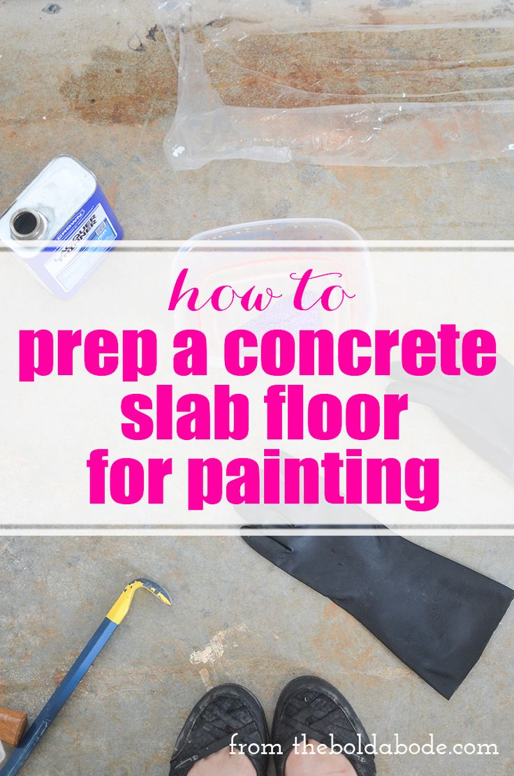 How to Prep a Concrete Slab Floor for Painting: Removing the tack strips and glu...