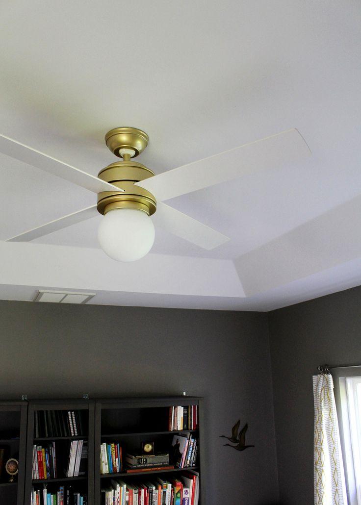 Home Decorating Diy Projects Hunter Fan Hepburn A Modern Ceiling Fan Upgrade For Under 200