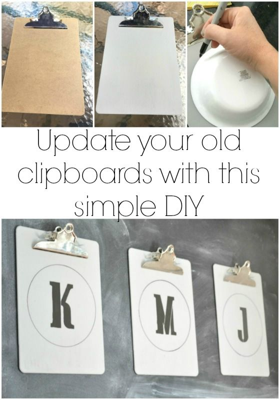 Home Decorating Diy Projects Makeover Your Tired Stock Clipboards With A Little Chalk Paint