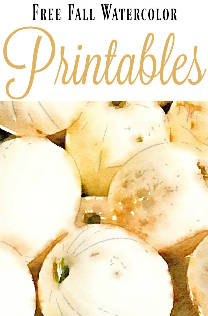 Home Decorating Diy Projects These Free Fall Watercolor