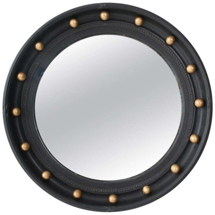 Early 20th Century English Convex Bull's Eye Mirror | 1stdibs.com