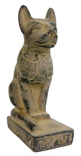 Sadigh Gallery's Ancient Egyptian Limestone Cat Statue