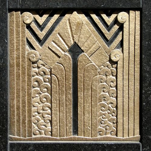 Art Deco Ornament- Art Deco ornamentation in the door reveal of the Carbide and ...