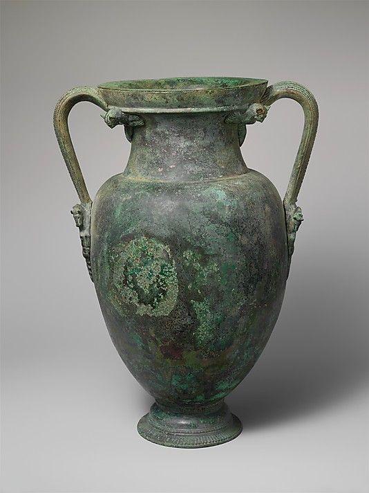 Bronze neck-amphora (jar) Period: Classical Date: ca. 460 B.C. Culture: Etruscan...