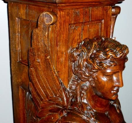 The best oak I have seen in a long time. Antique oak carved newell post.