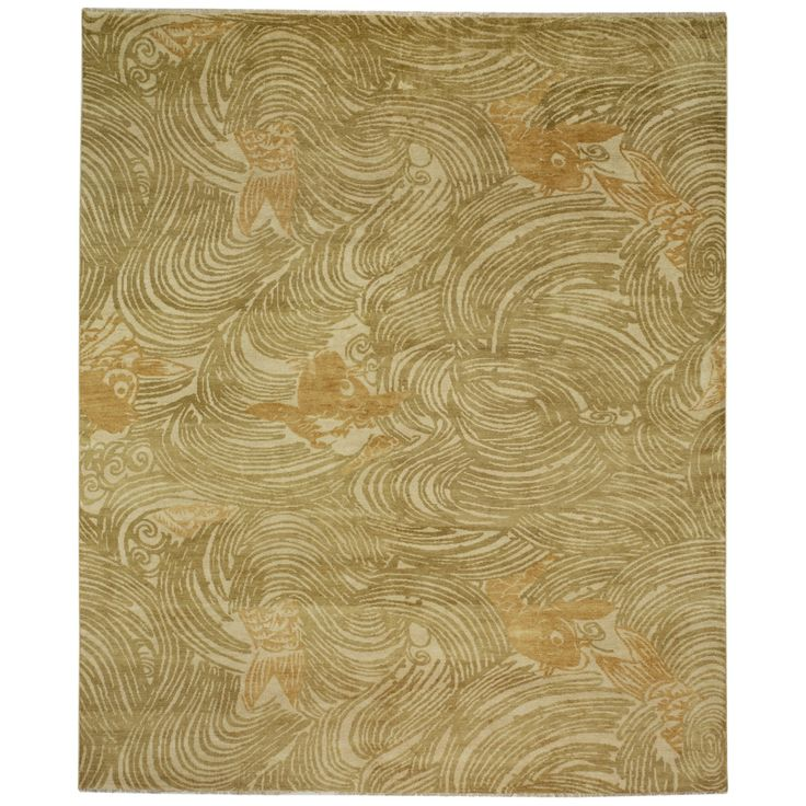 Rugs home decor currey and company koi grass rug for Decorative objects for home