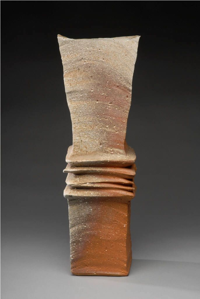 Artist: Yasuhisa Kohyama, Title: Tall Rectangular Vessel - click for larger imag...
