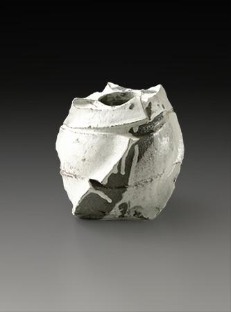 Shozo Michikawa | Square vase, kohiki