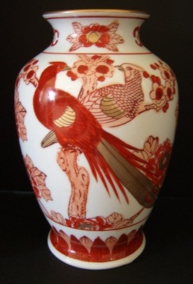 Vases Home Decor Vintage Gold Imari Vase Red White