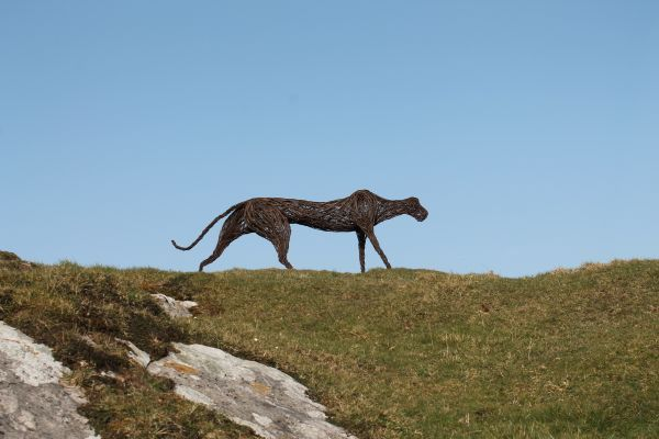 #Willow #sculpture by #sculptor Sophie Courtiour titled: 'The Blackdown Beast (W...