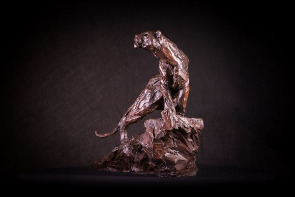 #Bronze #sculpture by #sculptor Matt Withington titled: 'On the Scent (Small Bro...