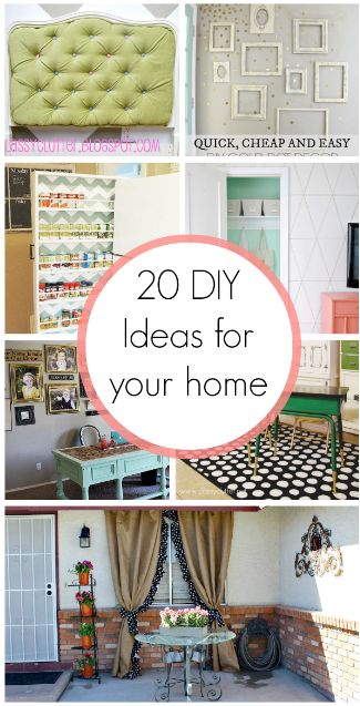 20 DIY Home Decor Ideas - these ideas are rocking my world! My homes to-do list ...