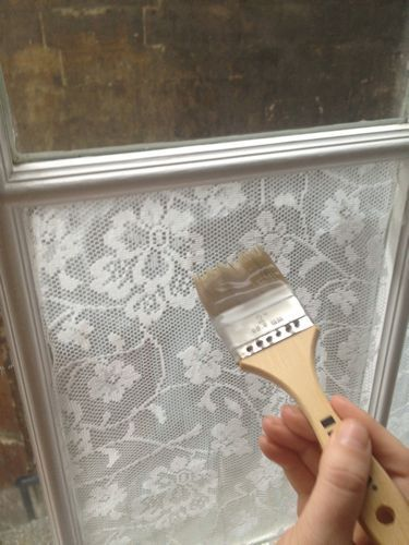 Add Lace to your windows with cornstarch! EASY! | A 1 Nice Blog