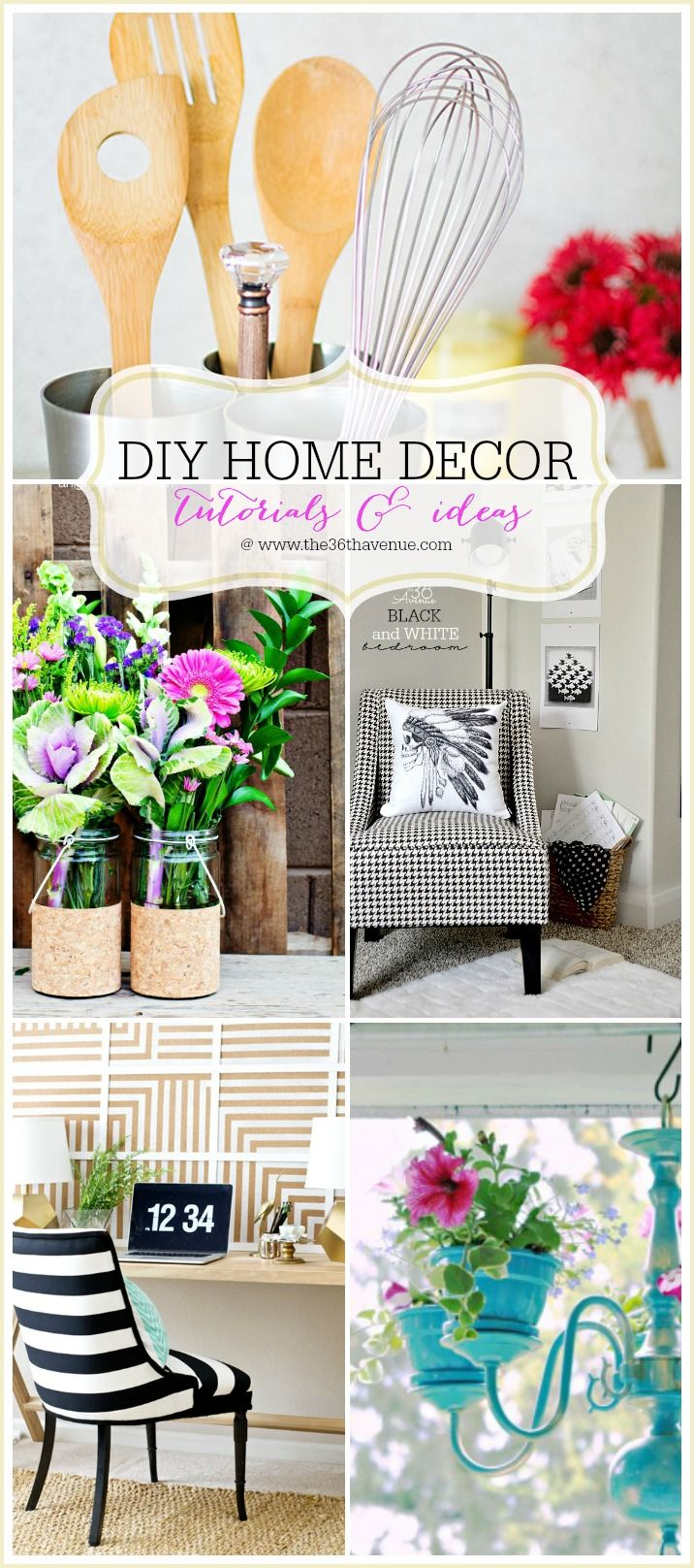 Decor Hacks Check Out All Of These Fun Diy Home Decor Tutorials And Ideas Easy Diy Projec
