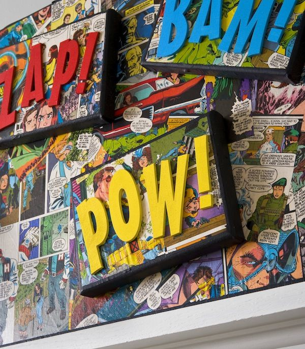 Decor hacks decorate a canvas with comic books and mod for Best home decor books 2017