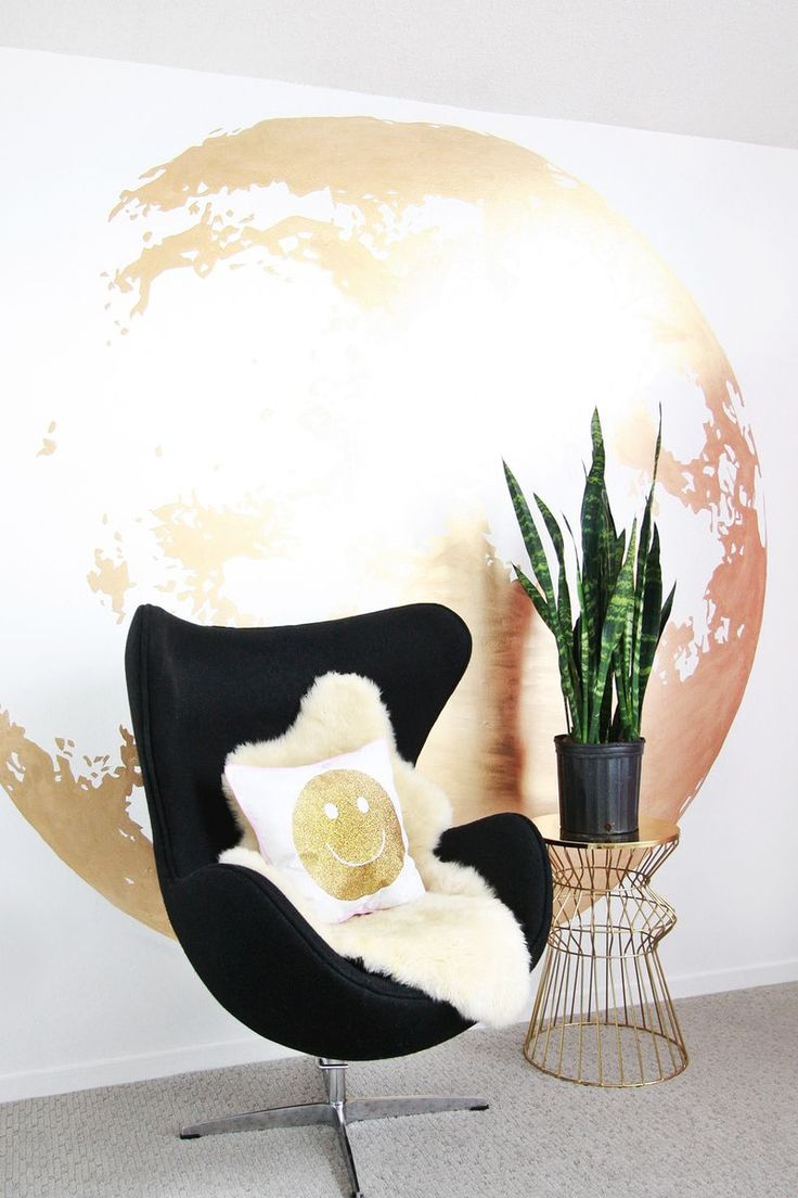 Decor Hacks Gold Moon Wall Abeautifulmesscom
