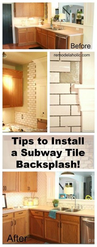decor hacks how to install a subway tile backsplash tutorial backsplash. Black Bedroom Furniture Sets. Home Design Ideas