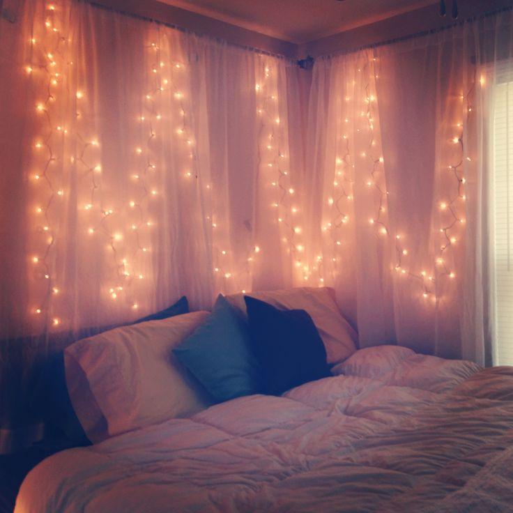 I love the use of Christmas lights for mood lighting