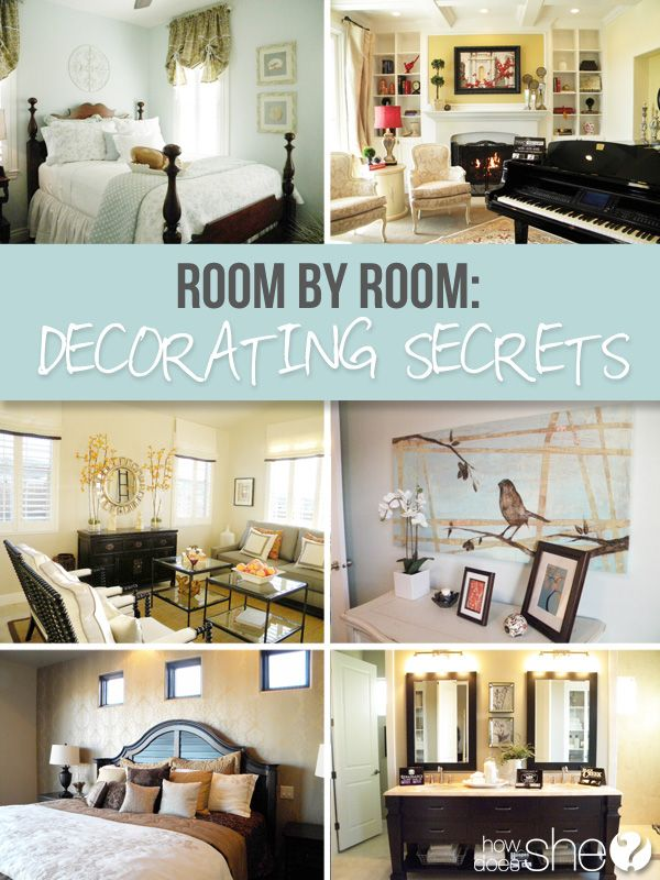 Decor hacks room by room decorating secrets howdoesshe for Room decor hacks