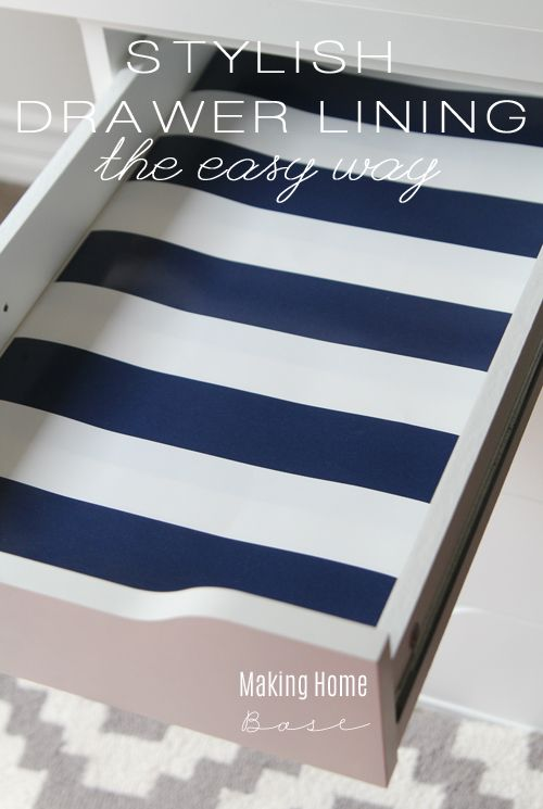 This is a great idea! Line desk drawers with wrapping paper for just $2.00 so cl...