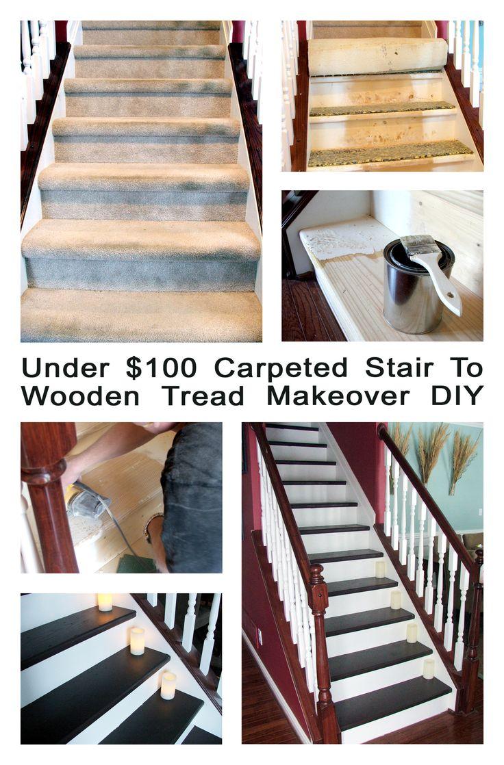 Decor Hacks Under 100 Dollar Staircase Makeover Carpet