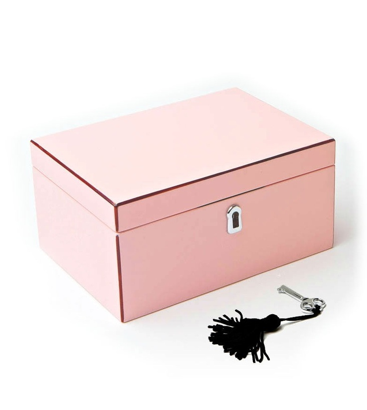 Fashion Jewelry Boxes, in High Gloss Powder Pink Lacquer, sharing luxury designe...