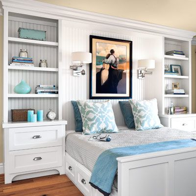 Furniture - Bedrooms : built-ins - guest bedroom with white ...