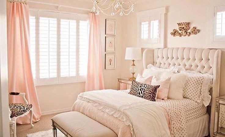 furniture bedrooms lovely gold and light pink accent 16680 | furniture bedrooms lovely gold and light pink accent bedroom by randi garrett designs