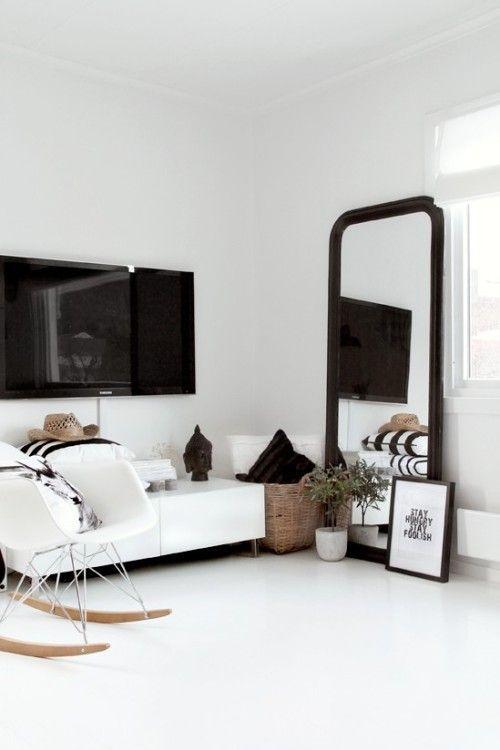 Furniture - Living Room : Black and white home decor, love ...