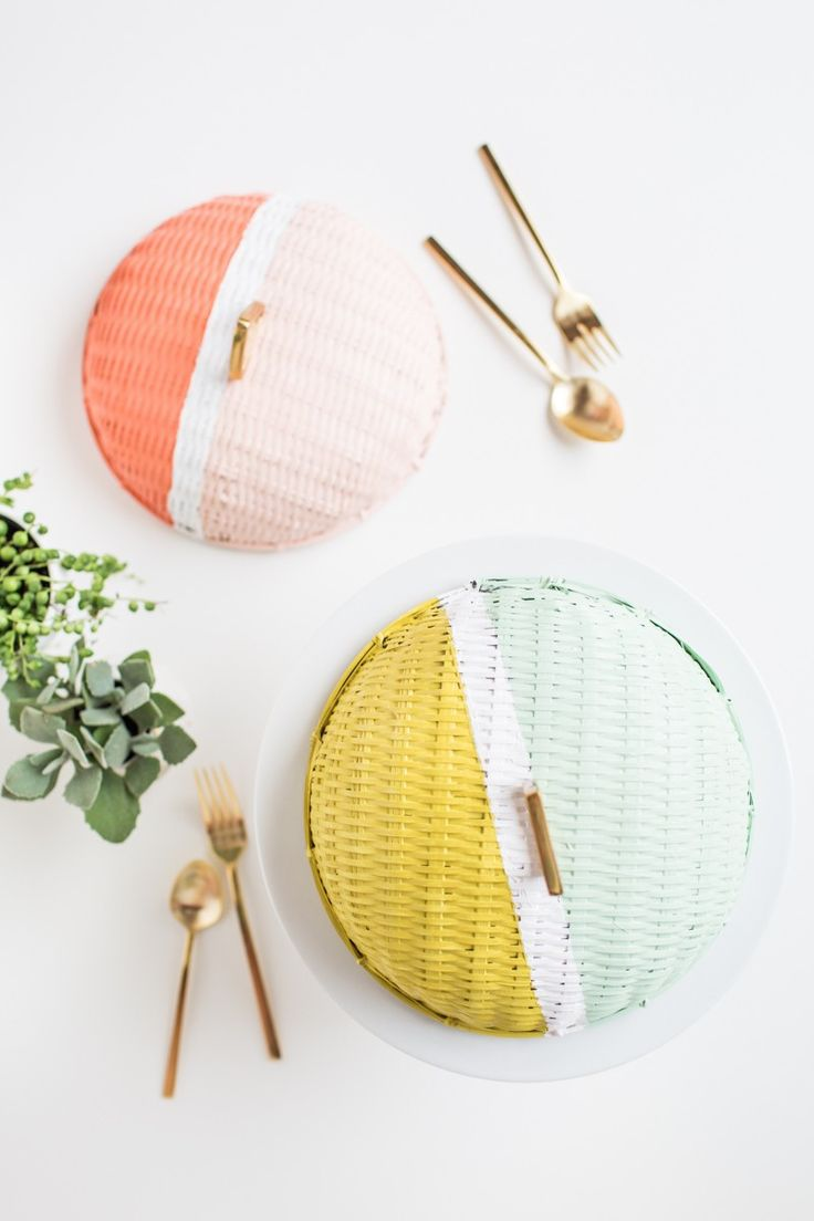 DIY // Colorblock food domes | sugarandcloth.com