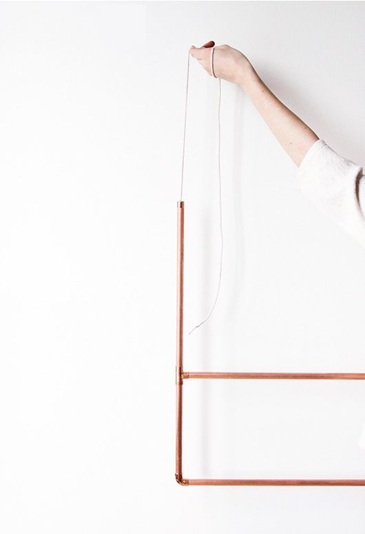 DIY copper clothing rack