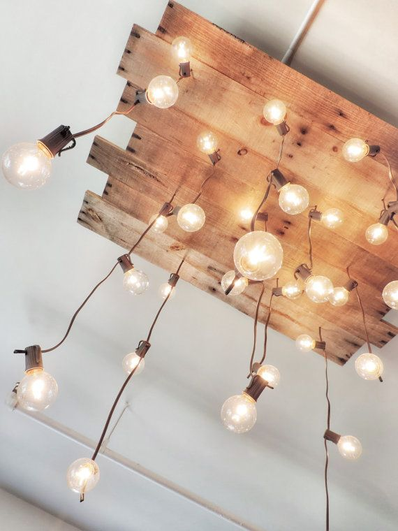 Handmade Reclaimed Wood Chandelier by CaSaCreated on Etsy, $375.00