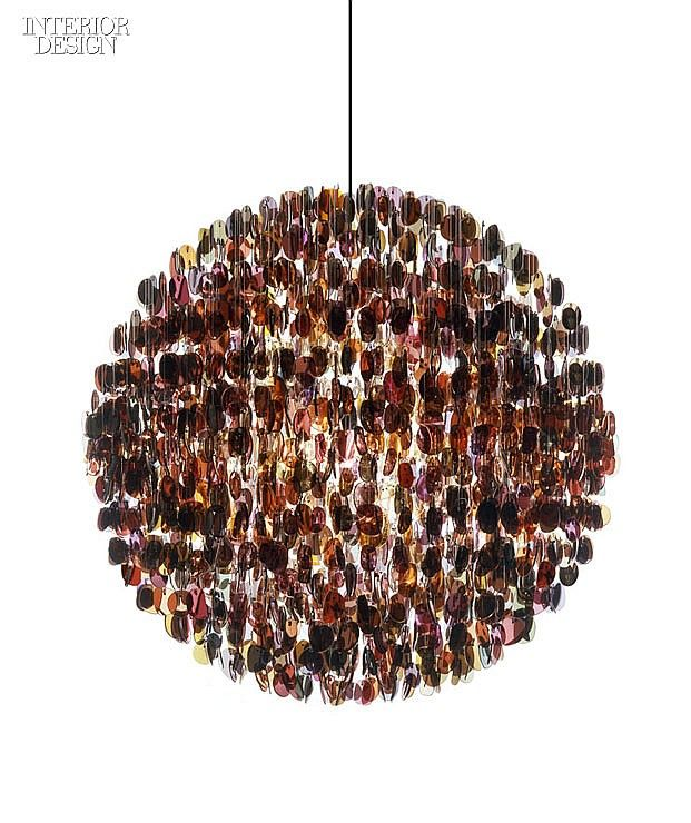 Sunglass frames composing another chandelier by Stuart Haygarth. Photography cou...