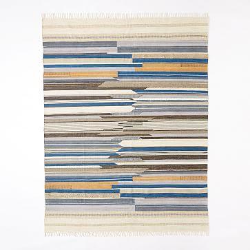 Mixed Stripe Wool Dhurrie #westelm