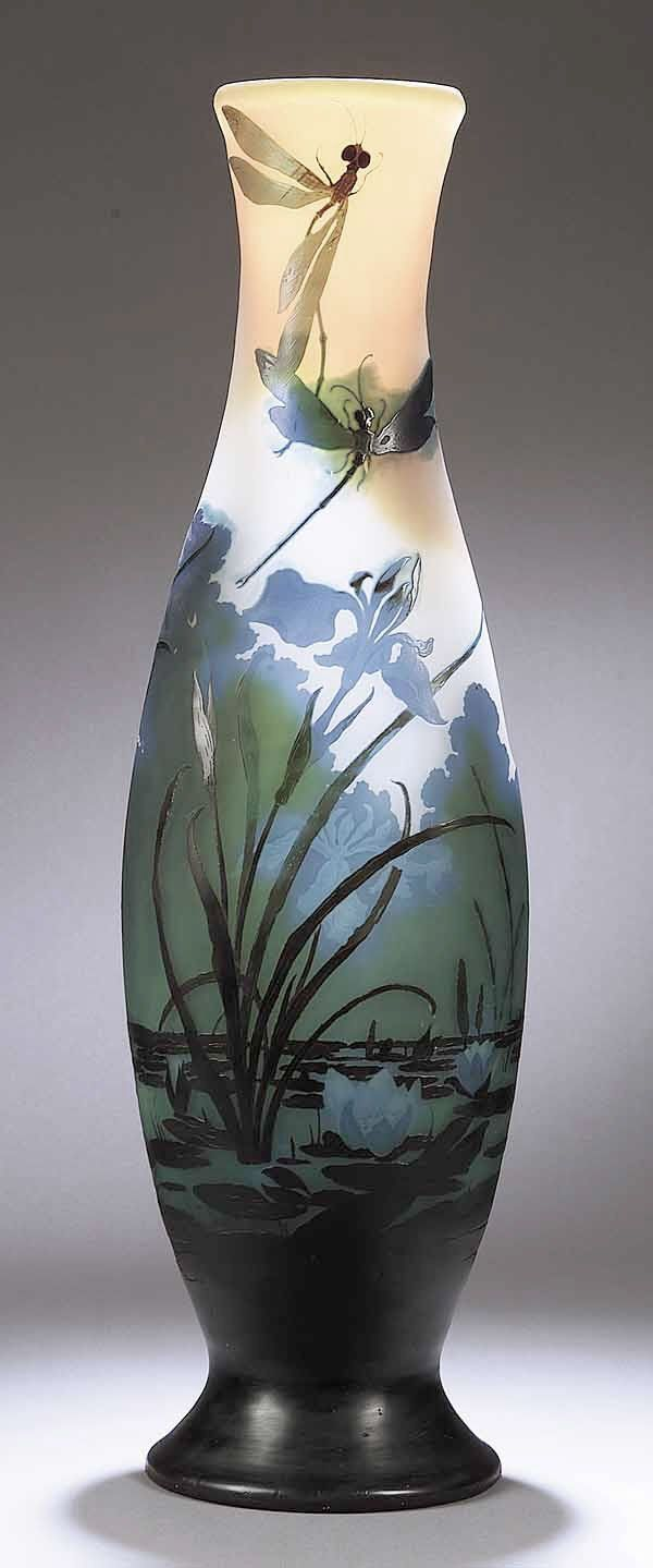 Vases Home Decor Art Nouveau Cameo Glass Vase C 1885