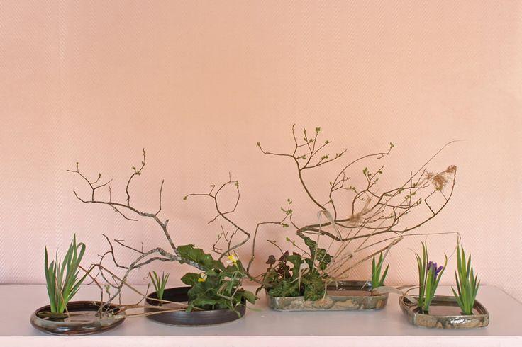 Ikeban-Zen - Association Ikeru - Composition florale des ateliers et stages d'...