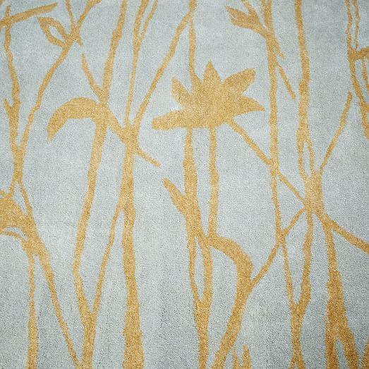 Rugs Home Decor Botanical Twigs Wool Rug Oatmeal
