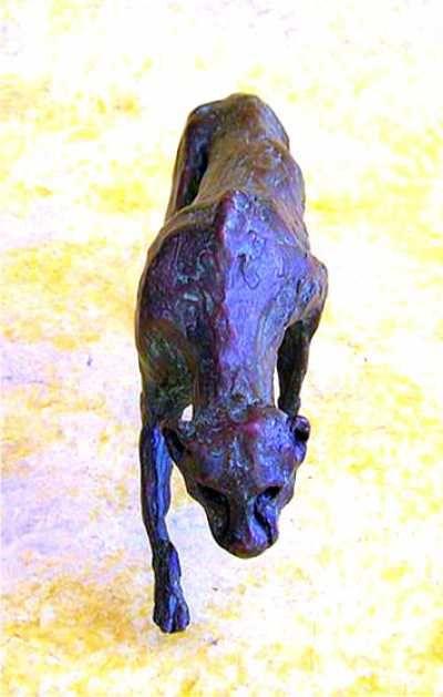 #Bronze #sculpture by #sculptor Rosie Sturgis titled: 'Cheetah Stalking (Bronze ...