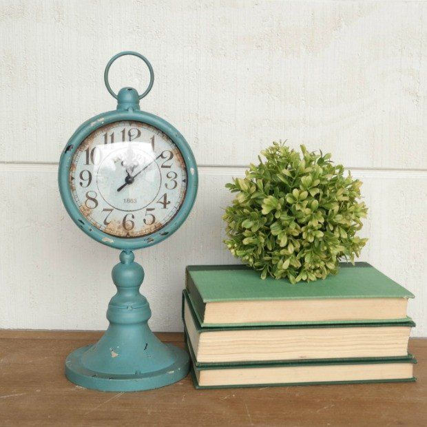 Decorative Objects For Home: Decor Objects: Antiqued London Table Clock
