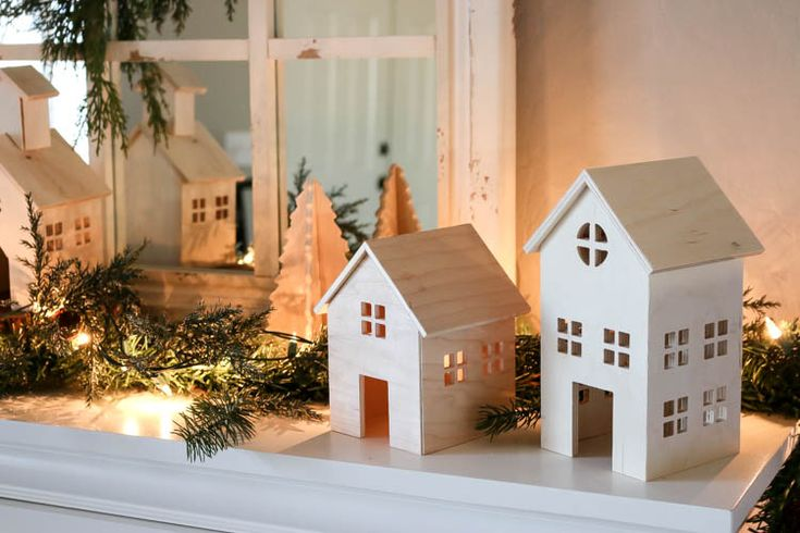 Decor Diy Inspiration Diy Wooden Christmas Village
