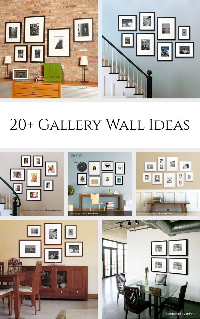 Decor hacks 20 gallery wall ideas bringing together for Best home decor ideas