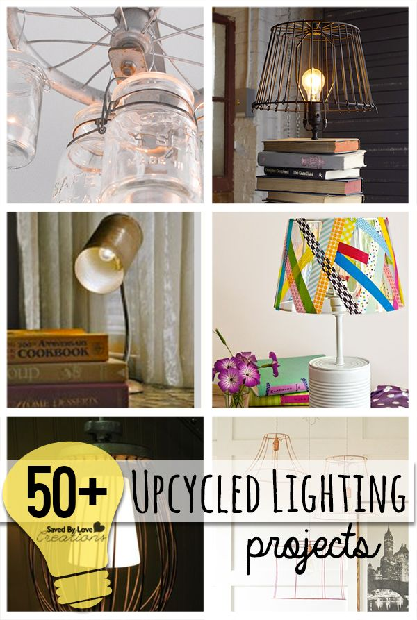 50 Plus Best DIY Upcycle Lamps and Chandeliers to make @savedbyloves