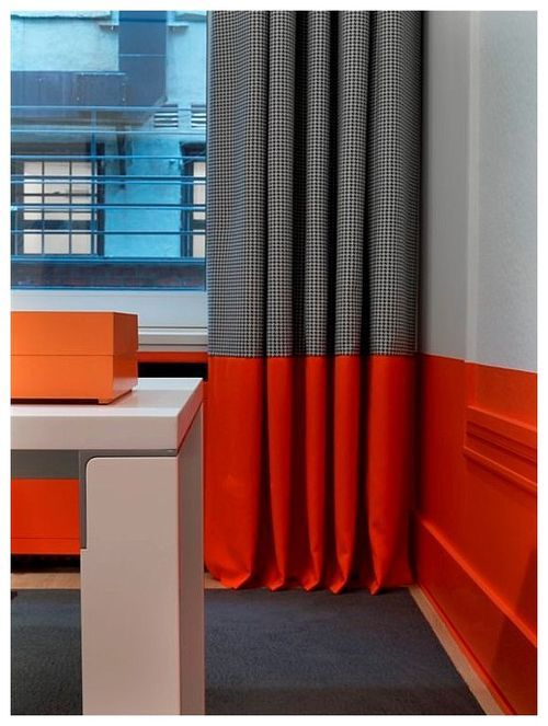 Bright bold color stripe along bottom of wall same/contrasting color to that pai...