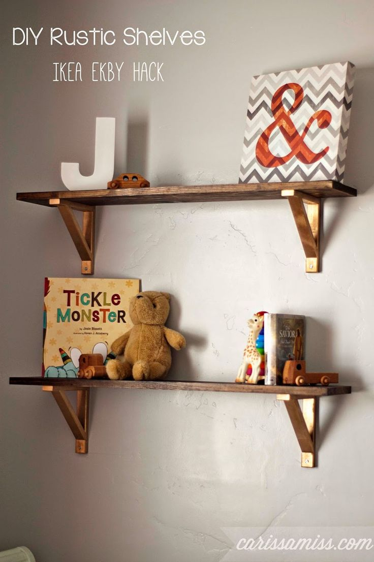 Decor Hacks Carissa Miss Diy Rustic Shelves Ikea Ekby