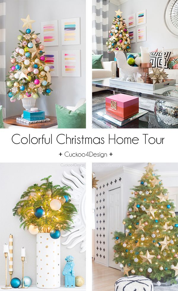 Decor Hacks Colorful Christmas Decorating Ideas By Cuckoo4design