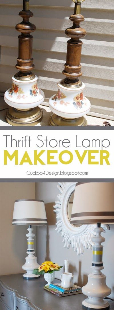 Cuckoo 4 Design: Thrift Store Lamp Makeover