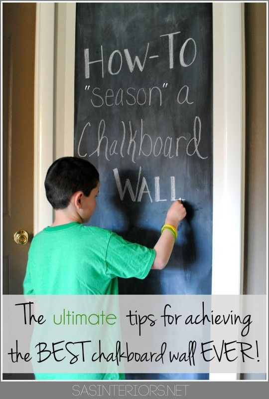 How-To PREP + 'SEASON' a Chalkboard Wall before using it.  It's the ...