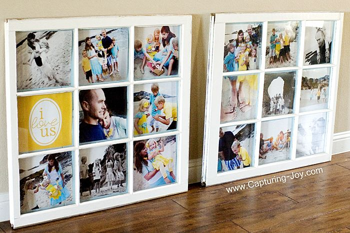 How to turn Vintage Windows into Picture Frames
